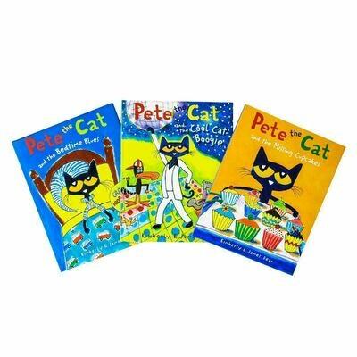 Pete the Cat 3-Set Boogie/Bedtime/Cupcak