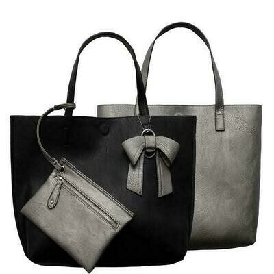 Nadia-Black Reversible Tote
