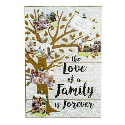 Family is Forever Photo Display Plaque