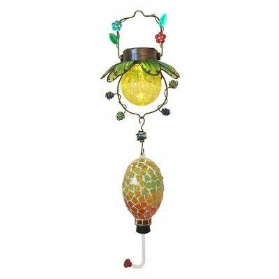 Mosaic Solar Hummingbird Feeder