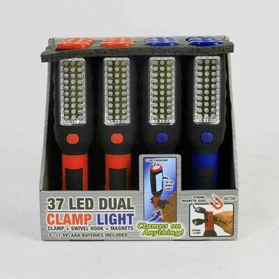 37 LED Dual Clamp Light Assorted PDQ