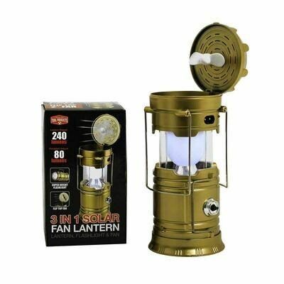 3 in 1 Rechargeable Fan & Light