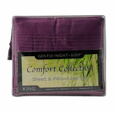 Microfiber Sheet Set King - Lavender