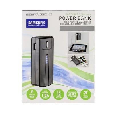 Portable Power Bank w/Wall Plug