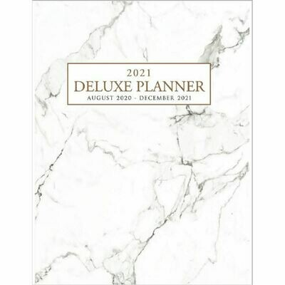 2021 Deluxe 17 Month Planner (Marble)
