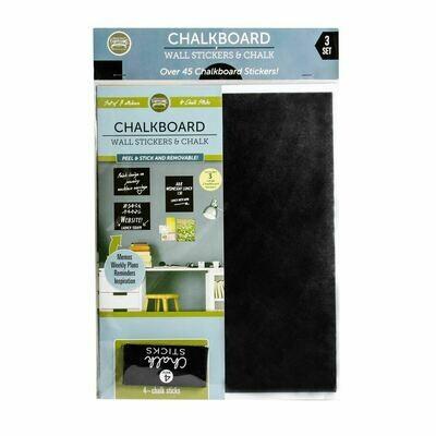 Chalkboard Shapes Wall Sticker 3 Packs