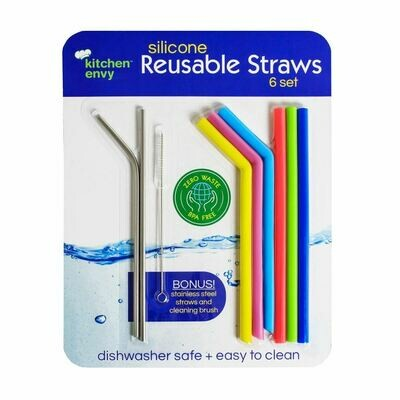 Silicone Reusable Straw Set
