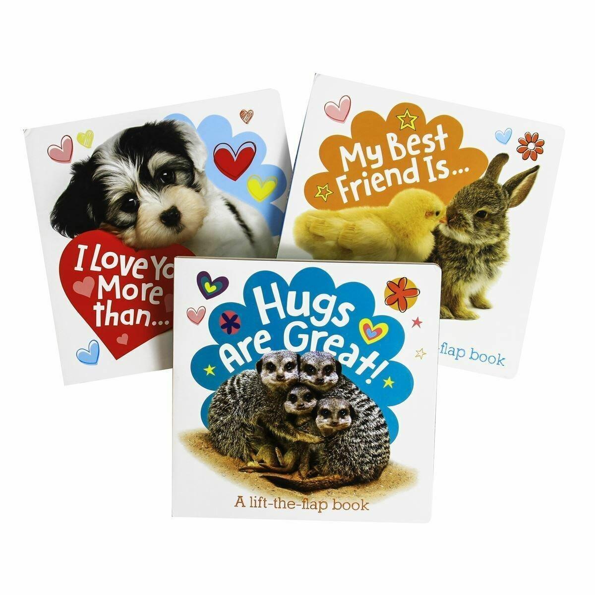 Love/Hugs/Friend 3-Set Lift the Flap