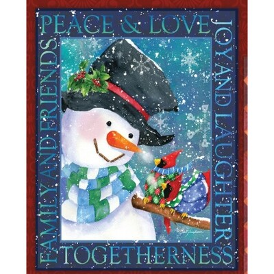 Peace, Love and Joy Throw