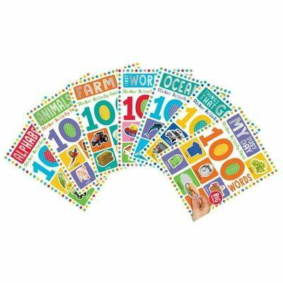 100 Words Sticker Books 7-Set