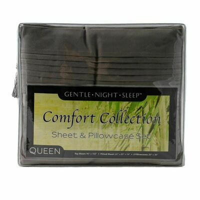 Microfiber Sheet Set Queen - Slate Grey