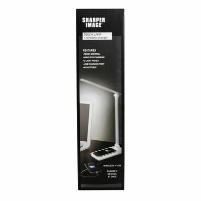 Sharper Image Touch Lamp and Wireless Charger
