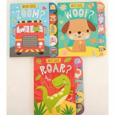 Who Goes Roar/Woof/Zoom 3-Set