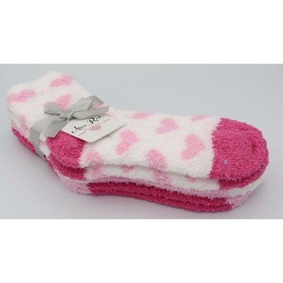 Ladies Soft and Fuzzy Socks - 3 Pack