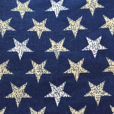 Blue w/ White & Gold Stars