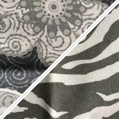 Grey/Blue Flower & Zebra