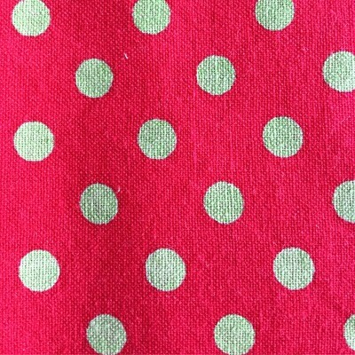 Red w/ polka dots