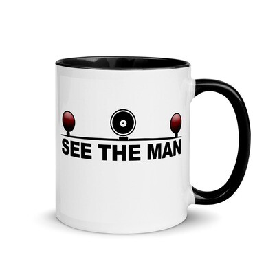 See The Man - Splash of Color Police Mug