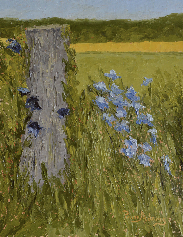 IRISES IN SPRING by Pam Adams