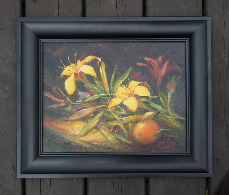 YELLOW LILIES by Marilyn Lustik