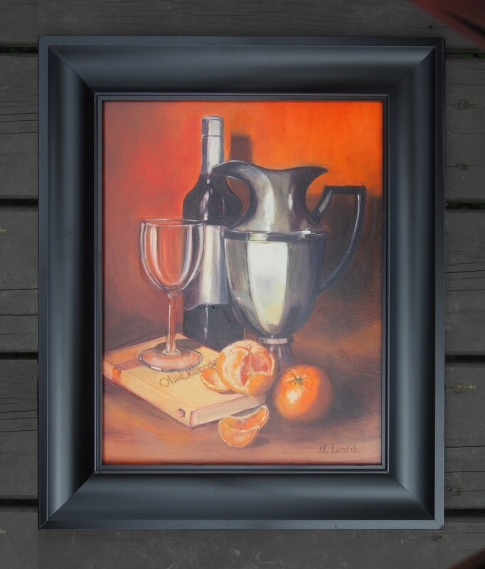 OLIVE KITTERIDGE (ORANGE STILL LIFE) by Marilyn Lustik
