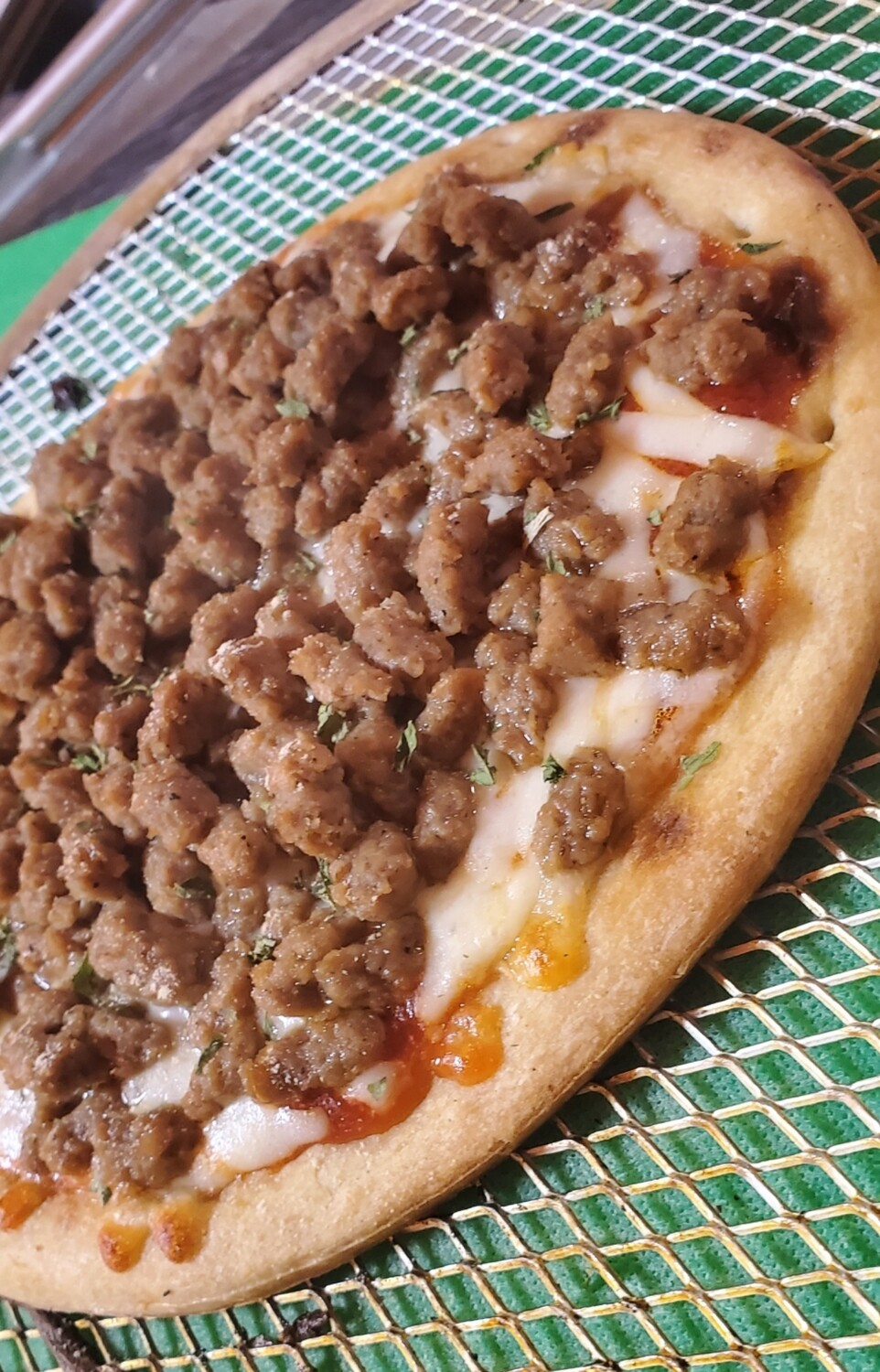 Beef Sausage Pizza
