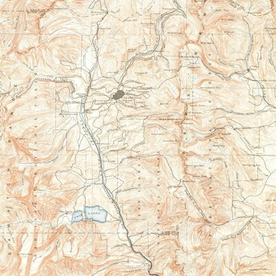 1889 Leadville Map - Metal Print