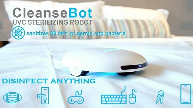 CleanseBot 2.0 bacteria killing Robot