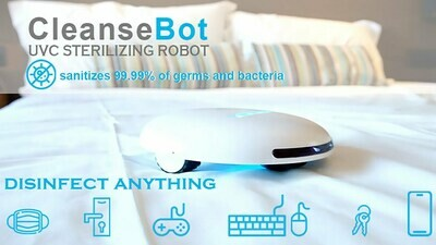 CleanseBot 2.0 bacteria killing Robot