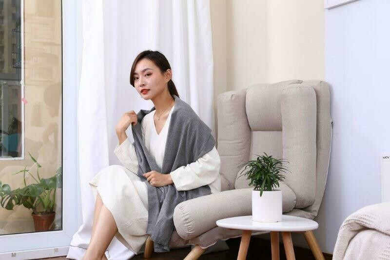 Graphene Heating Scarf GREY or RED
