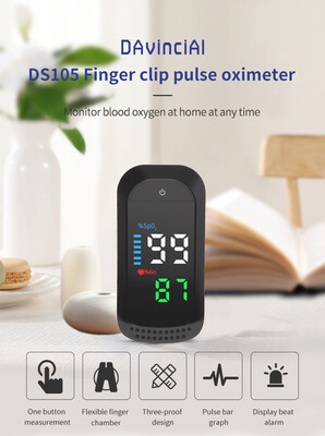 DS105 LED PULSE OXIMETER CE AND FDA APPROVED FINGERTIP