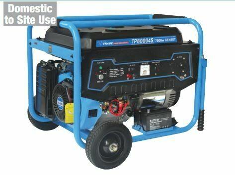 Petrol Generator 7.5Kw (9.4Kva) 25lt recoil/electric start 220v