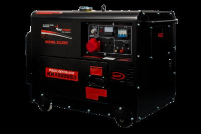 Diesel Silent Generator 8Kw (10Kva) 16Lt 380V (3-phase)