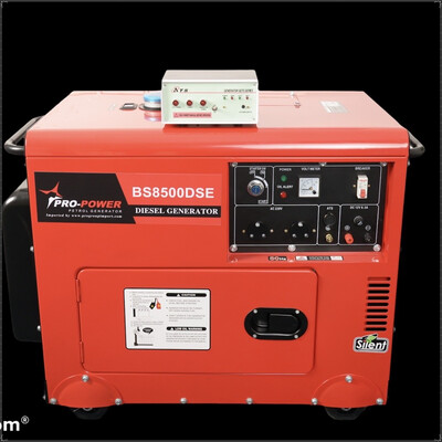 Diesel Silent Generator 6.5kw (8kva) 16Lt with ATS Panel Unit and Interface