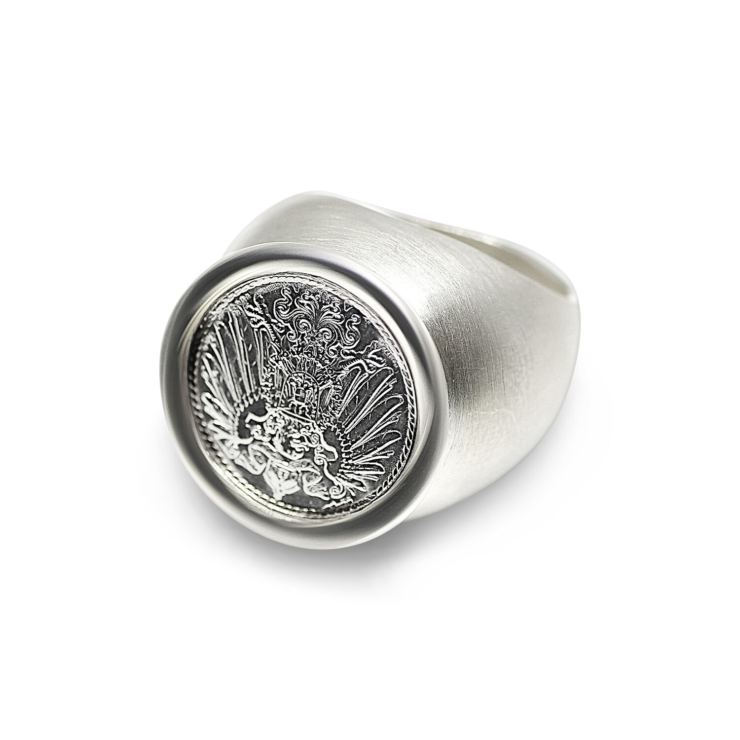 German Coin Ring Sterling Silver 925