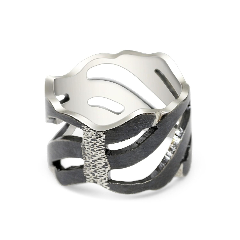Dark Wave Storm Ring Sterling Silver 925