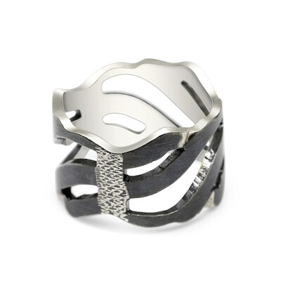 Dark Wave Storm Ring Sterling Silver 925