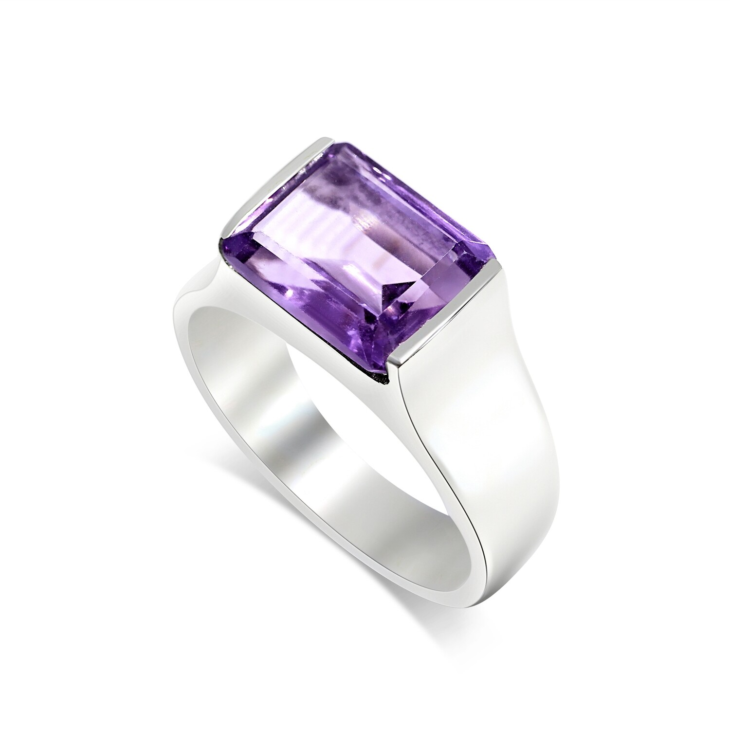 Brazilian Amethyst Ring Sterling Silver 925