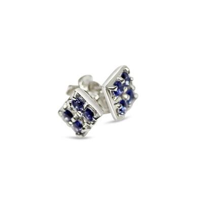 Sapphire Earrings Sterling Silver 925