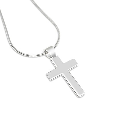 Cross Sterling Silver Pendant and Chain Sterling Silver 925