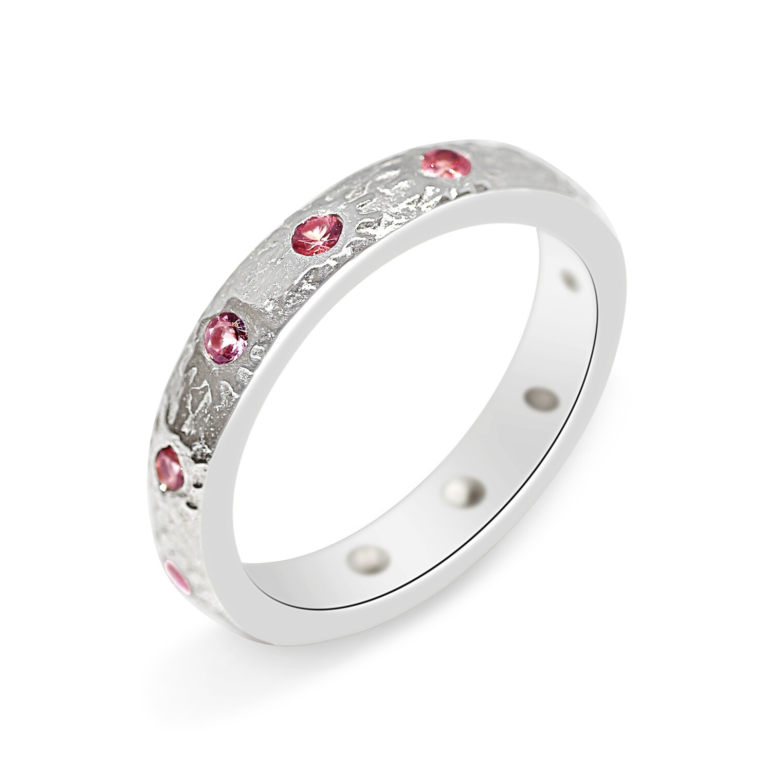Pink Spinel Ring Sterling Silver 925