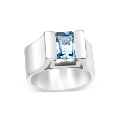 Topaz Swiss Blue Sterling Silver 925 Ring