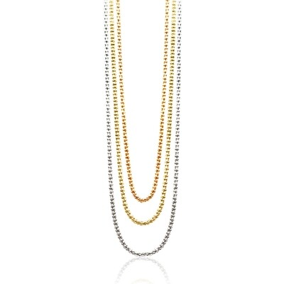 Popcorn 3 in one Colours Chain 2mm Steling Silver 925