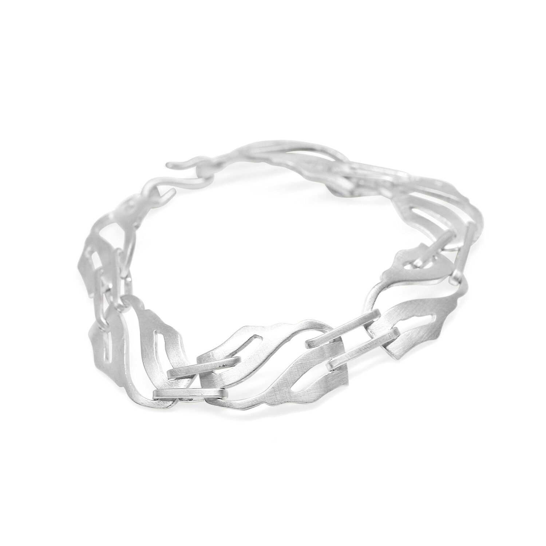 Wave Bracelet 1.2 mm Sterling Silver 925