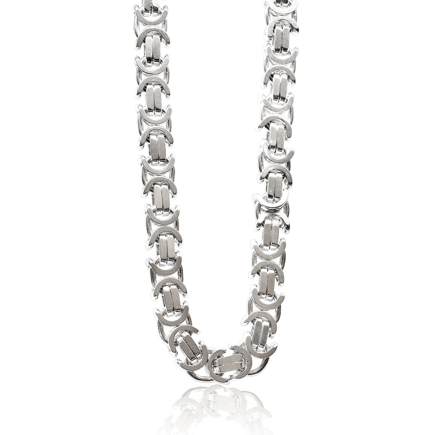 Flat Bizantine Chain 3.8 mm Sterling Silver 925