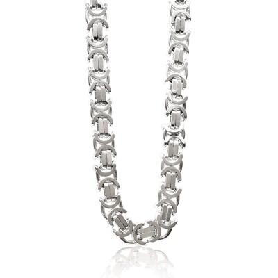 Flat Bizantine Chain 3.8 mm Sterling Silver 925