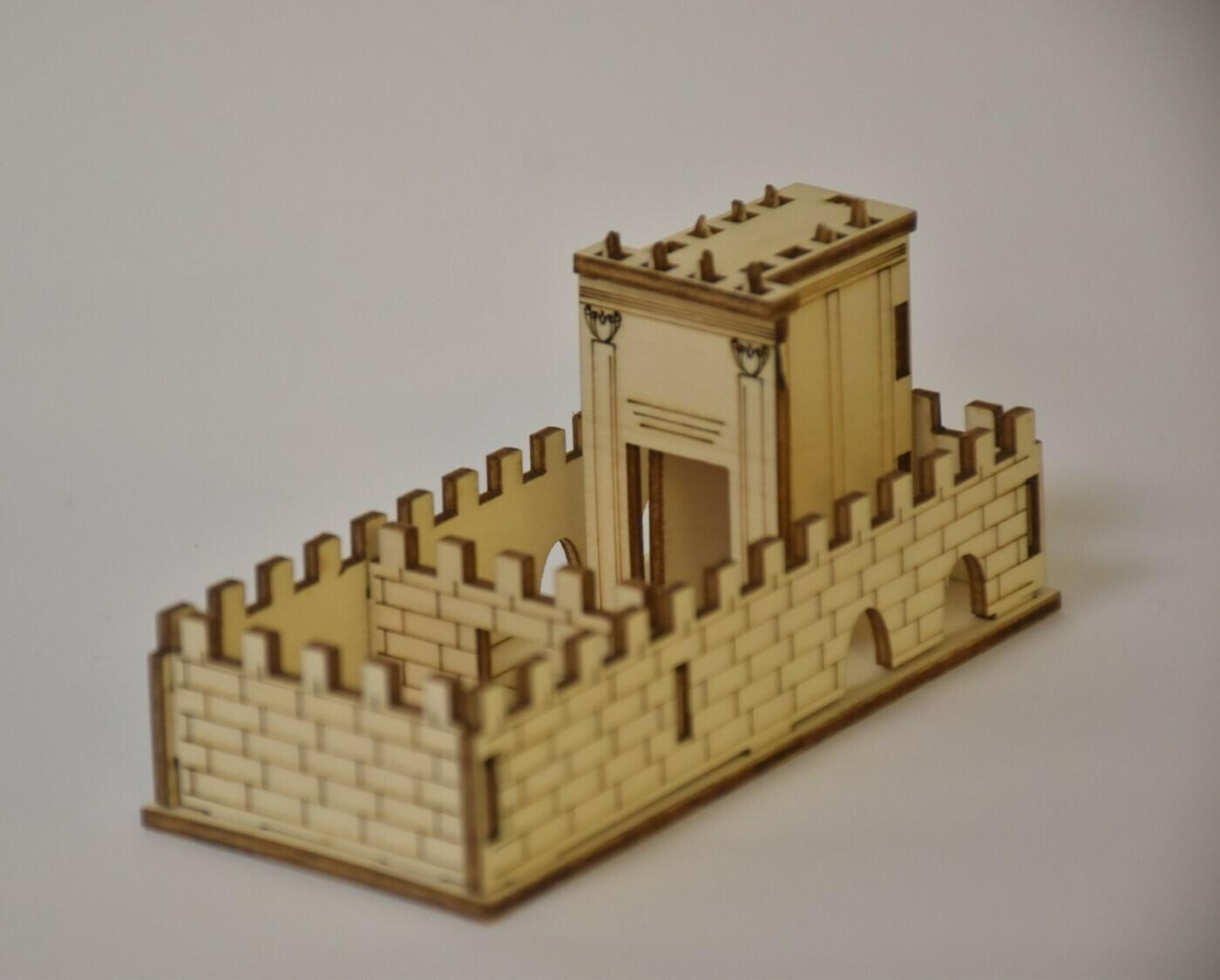 """מיניקדש"""" - דגם המקדש מעץ להרכבה"""""""