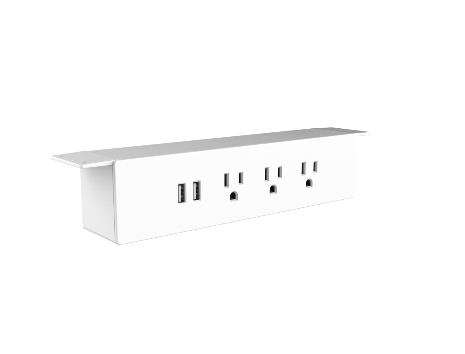 3 Power Outlet + 2 ports USB Strip Extension