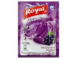 Gelatina de Uva Royal 80 Gramos