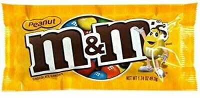 M&Ms Chocolates Peanut (Mani) Singles  1.74 Onzas